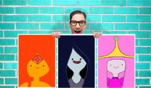 Adventure Time princess bubblegum fire  Marceline Set of 3 Art Work - Wall Art Print Poster Pick A Size-  Cartoon Art Geekery
